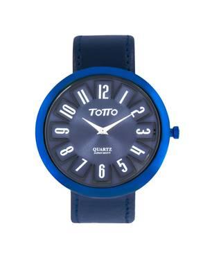 Reloj análogo azul-azul 07-3