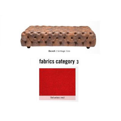 Banco Oxford, tela 3 - Velvetex Red (120x40x80cms)