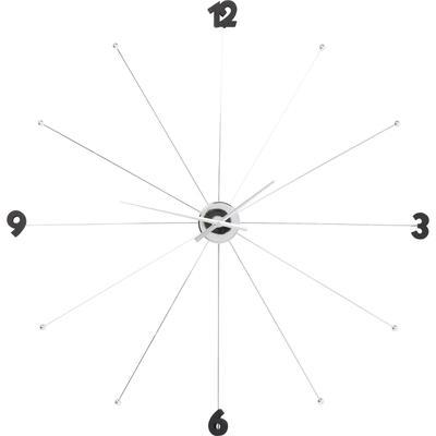 Reloj pared Like Umbrella cromo