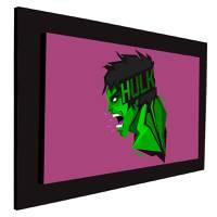 Cuadro decorativo tipo oleo Hulk 4 4111