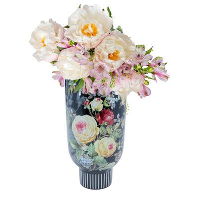 Vasija deco Rose Magic negro 27cm