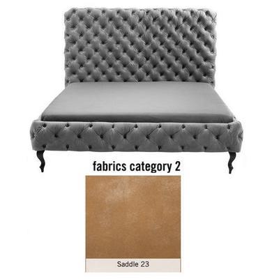 Cama (Alta) Desire, tela 2 - Saddle 23, (138x177x228cms), 160x200cm (no incluye colchón)