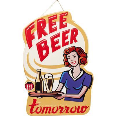 Decoración pared Free Beer