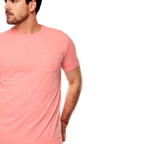 Camiseta Color Siete Para Hombre - Rosado
