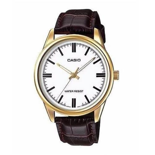 Reloj análogo blanco-marrón L-7A