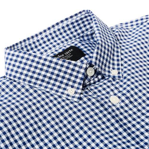 Camisa Wooter Color Siete Para Hombre - Azul
