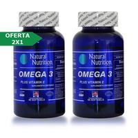 Natural Nutrition Omega 3 Plus Vitamina E 2x1  x 60 Capsulas