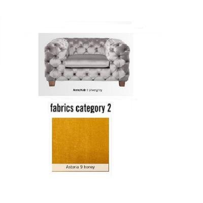 Poltrona My Desire, tela 2 - Astoria 9 honey  (128x66x105cms)
