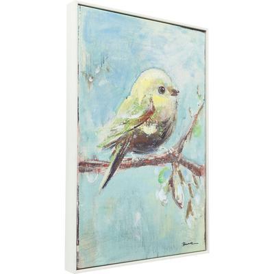 Cuadro Bird 60x40cm azul
