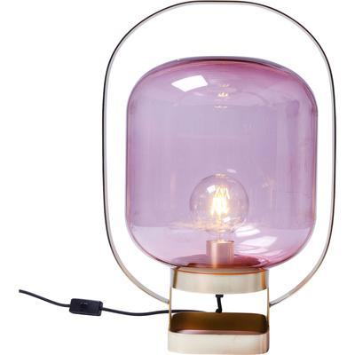 Lámpara mesa Jupiter rosa latón