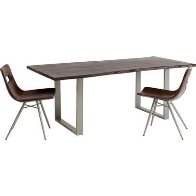 Mesa Harmony oscuro plata 200x100