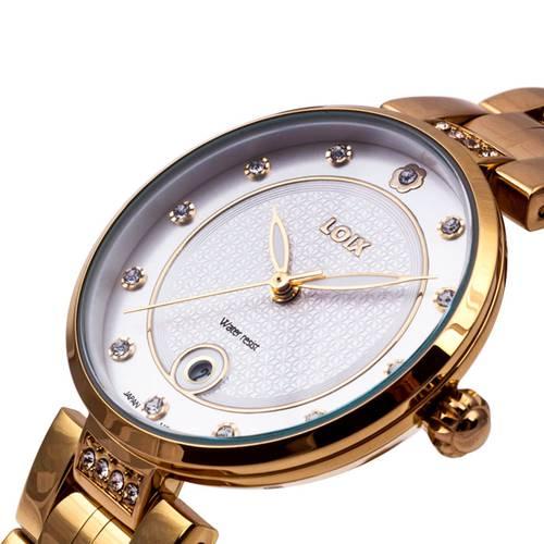 Reloj Gris - Dorado - L1117-01