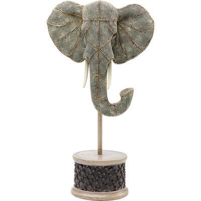 Objeto decorativo Elephant Head Pearls peq