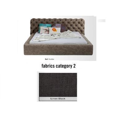 Cama Slumber,  tela 2 - Linen Black,  (82x228x239cms), 180x200cm (no incluye colchón)