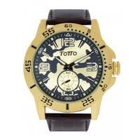 Reloj análogo beige-café 01-2