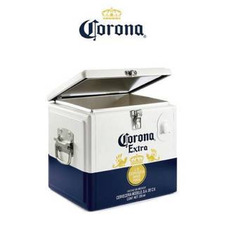 Mini Nevera Cooler Metálica Corona