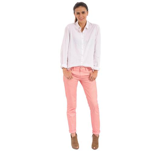 Camisa Manga Larga Monique Color Siete Para Mujer  - Blanco