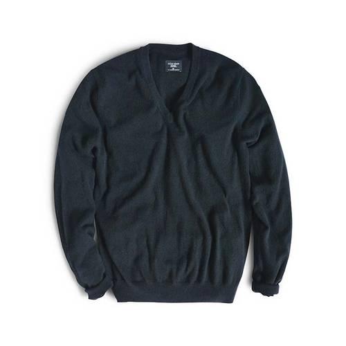 Sueter Color Siete para Hombre 100% Cashmere - Negro