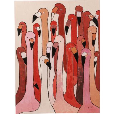 Cuadro  Flamingo Meeting 120x90cm