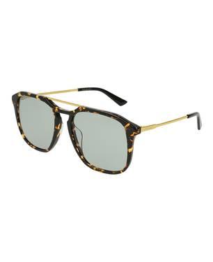 Gafas de sol havana-oro-verde -004