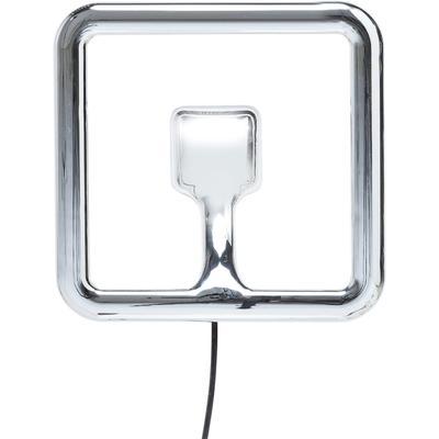 Lámpara pared Clip cromo LED 40x40