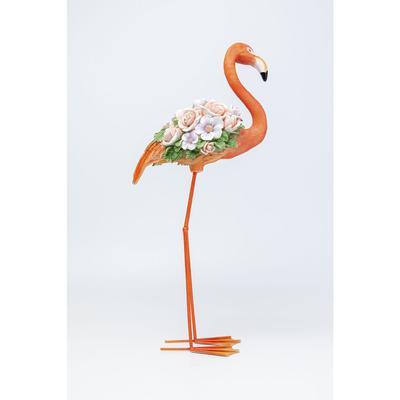 Objeto decorativo Flamingo Flower Power naranja 75
