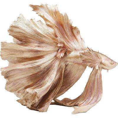 Figura decorativa Betta Fish oro