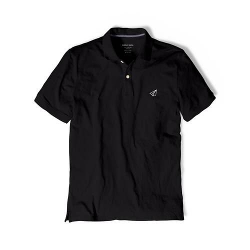 Polo Color Siete Para Hombre Negro - Avion de Papel