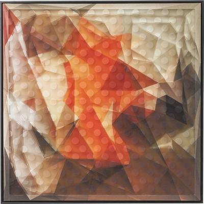 Cuadro Art 3D Abstract naranja 80x80cm