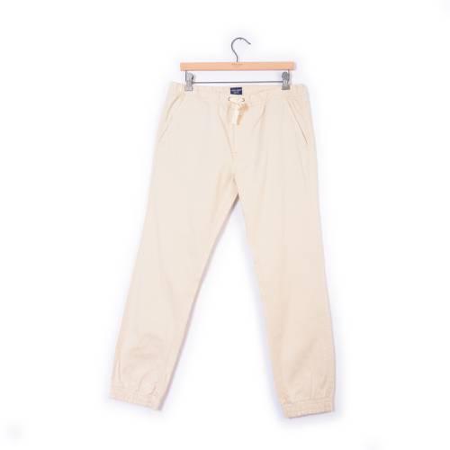 Pantalon Jogger Color Siete Para Hombre - Beige