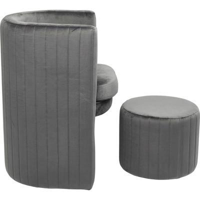 Sillón Lofty gris (2/Set)