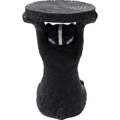 Mesa auxiliar Blue Mask Bear negro Ø35