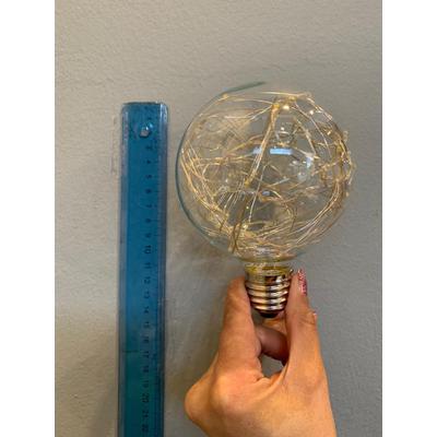 Globo transparente mini leds, parecen luces de arbolito de navidad E27