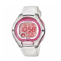 Reloj digital rosado-blanco 0-7A