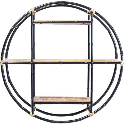 Estantería pared Jungle Bamboo negro Ø60cm