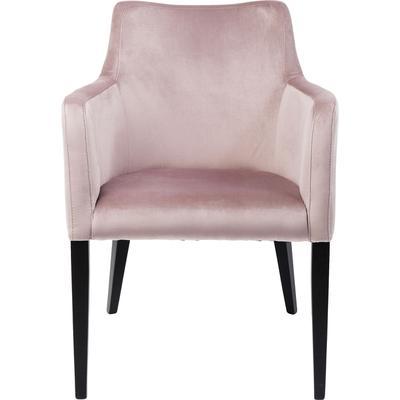 Silla reposabrazos Black Mode Velvet rosa
