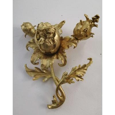 Wall Decoration Flowers Gold