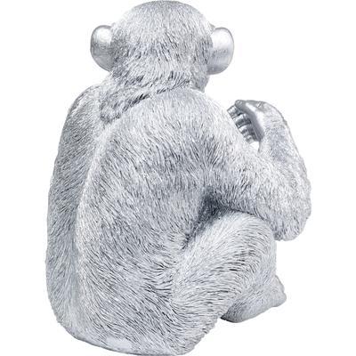 Figura deco Baby Ape plata 53