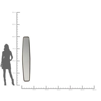 Espejo Clip negro 177x32cm