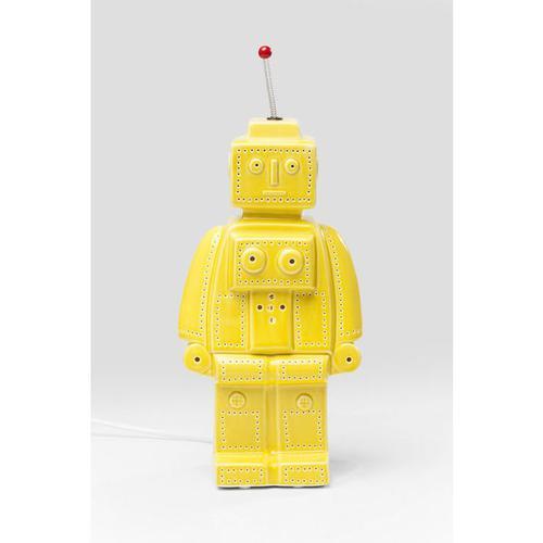 Lámpara mesa Robot amarillo