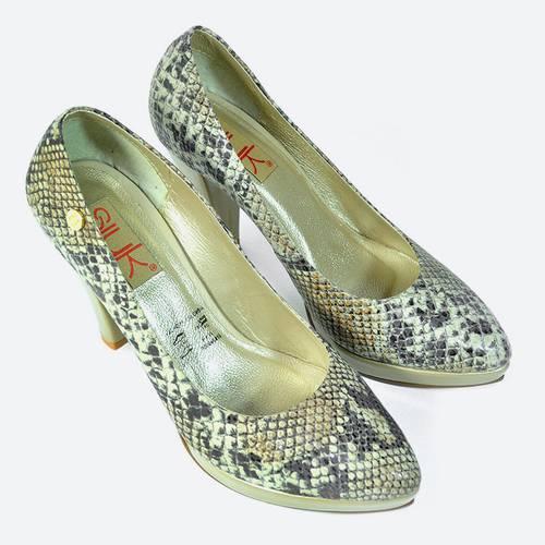 Zapato Cerrado Víbora Marrón