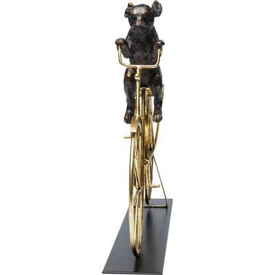 Objeto decorativo Dog With Bicycle