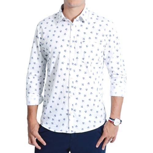 Camisa Manga Larga Leroy Color Siete para Hombre  - Blanco