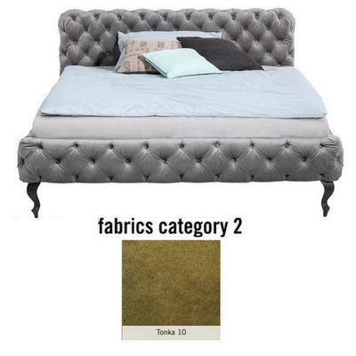 Cama Desire, tela 2 - Tonka 10, (100x157x228cms), 140x200cm (no incluye colchón)