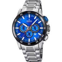 Reloj analógico azul-plateado 52-2