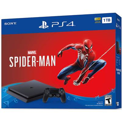 Consola PS4 1TB Slim + Juego Spiderman