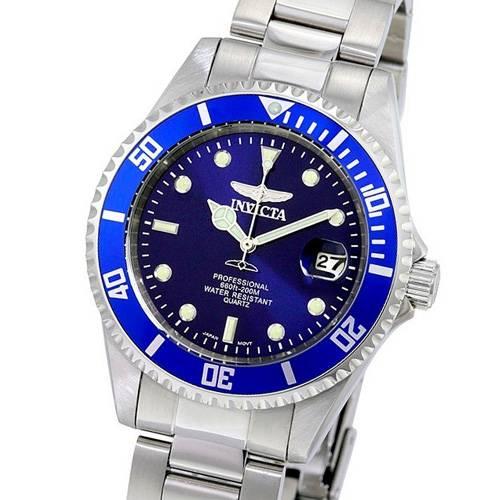Reloj cuarzo azul-acero 04OB