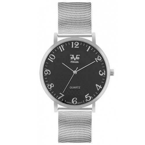 Reloj Negro/Plateado - V1969_087-2