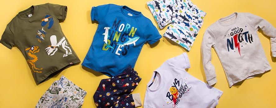 Banner superior pijamas kid boy
