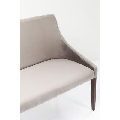 Banco Mode Velvet sin reposabrazos gris